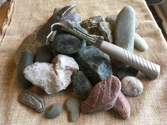 採った石たち