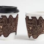 日常にさりげなく縄文/火焔型土器の刺繍が入ったカップスリーブ