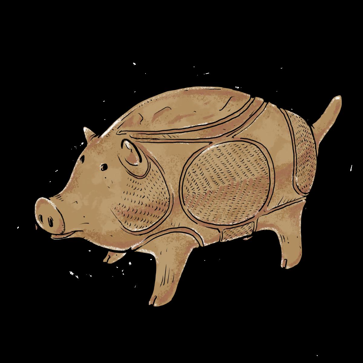 14. 猪型土製品