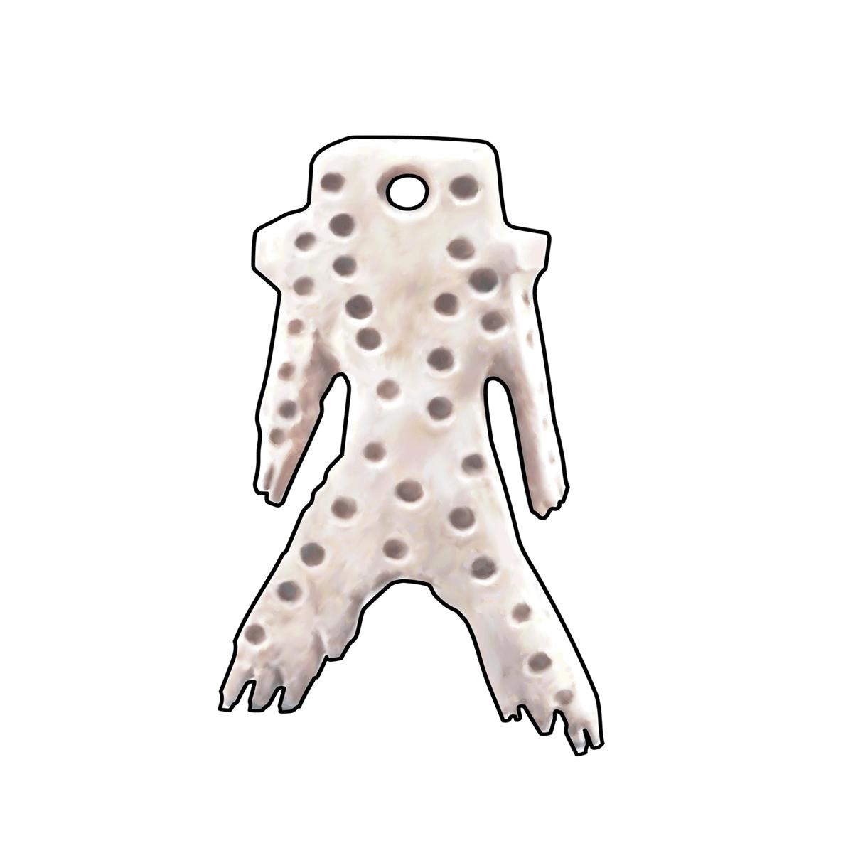 35.戸井貝塚の角偶